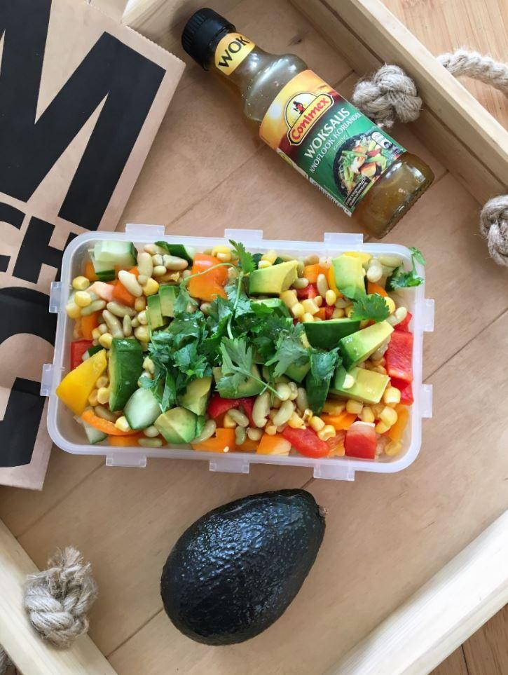 Wegetariański Poké lunch box